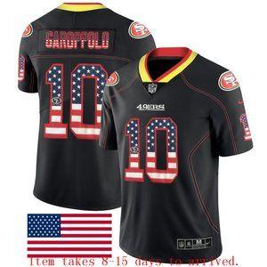 49ers #10 Jimmy Garoppolo USA Flag Jersey